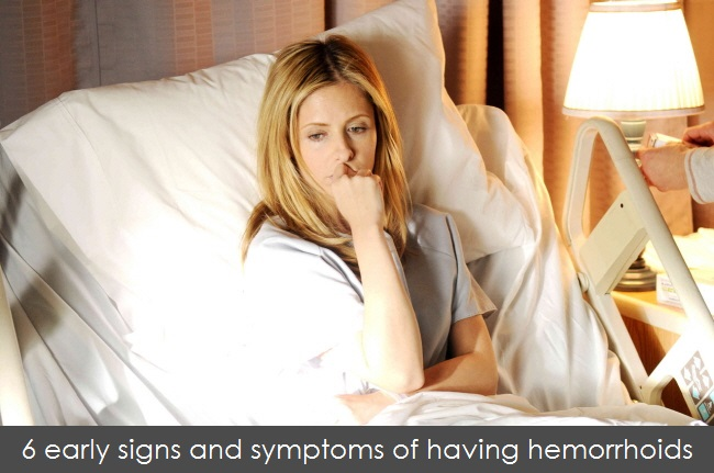 signs of hemorrhoids