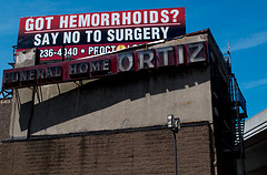 Billboard: Got hemorrhoids? Say no to surgery.
